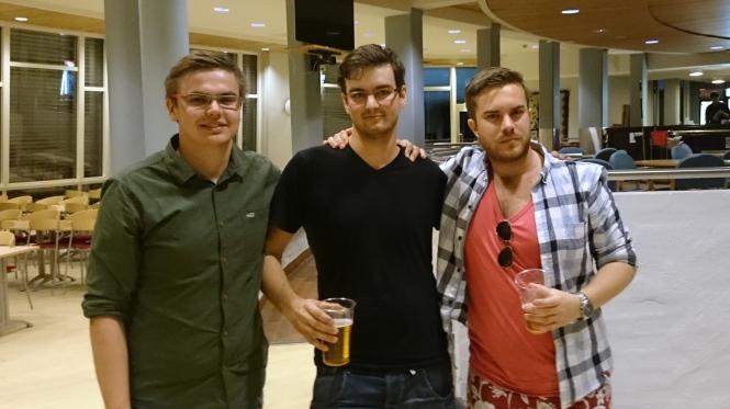 Fv. Eirik Robertsen, Christopher Bjørnes og Robin Mosling. Foto: Kenneth Hansen