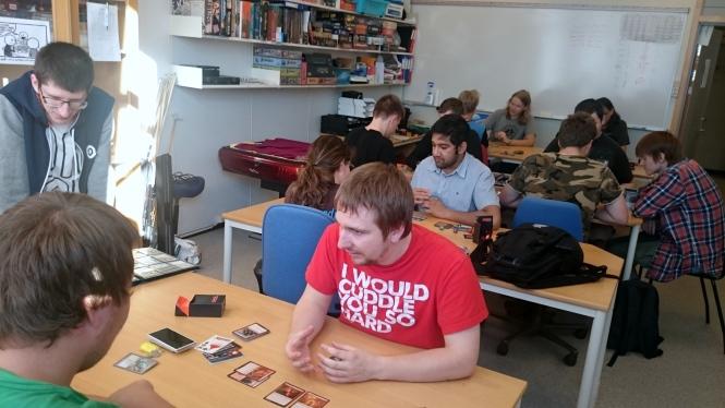 Spillklubben fylte lokalet med Magic-interesserte mennesker. Foto: Kenneth Hansen