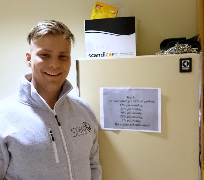 Simen Lindgaard er Ukens student. Foto: Kenneth Hansen