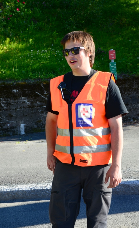 Sanitetsvakt Nils Holmebukt. Foto: Fredrik Lundblad
