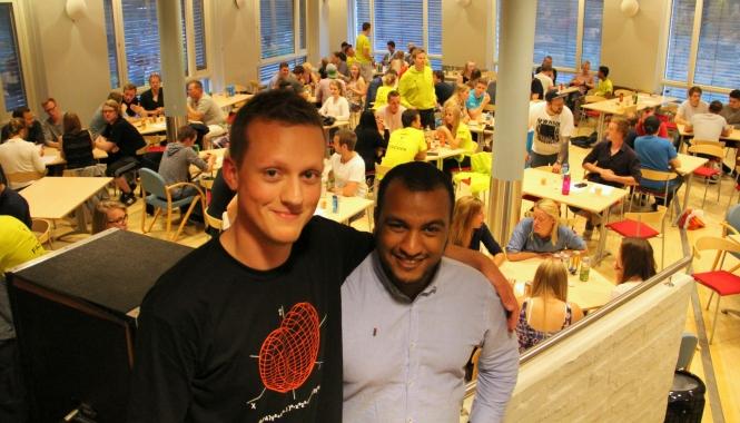 Lars Erik Sørgård (t.v.) og Omar Samy Gamal er fornøyde med arrangementet. Foto: Mats Fredrik Heigre