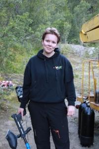 Kari-Hanna Jenssen ble truffet i låret. Foto: Benedicte S. Larsen