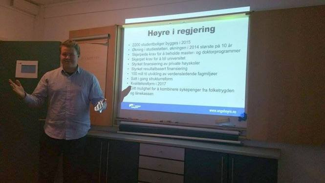 Foredragsholder Mathias Lauritzen. Foto: Ole Marius Svendsen