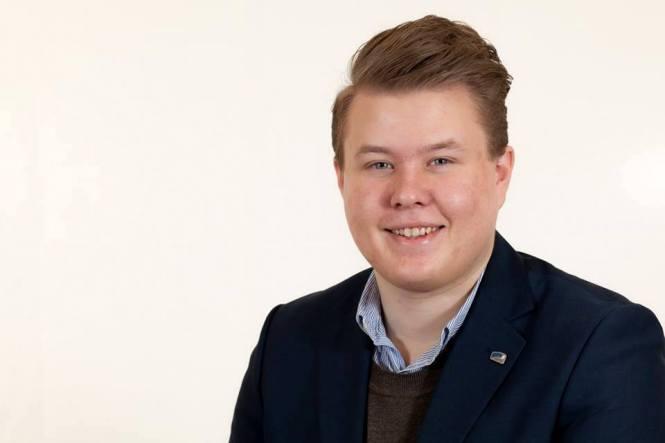Mathias Lauritzen fra fylkesorganisasjonen i Unge Høyre. Foto hentet fra Facebook.