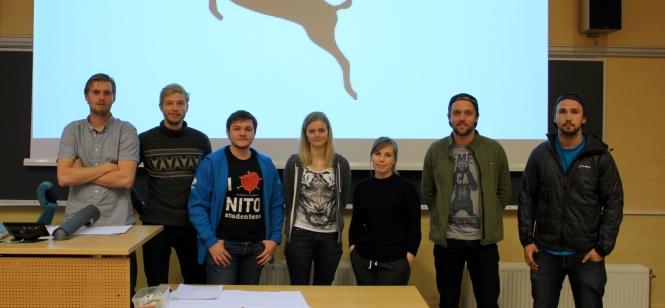 Det nye styret i Friluftsgruppa ved Hin. Foto: Frøya Hodges